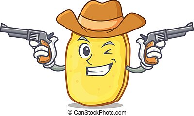 Cowboy potato chips character cartoon