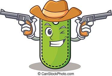 Cowboy price tag character cartoon