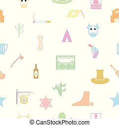 cowboy seamless pattern background icon.