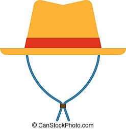 Cowboy sheriff leather hat