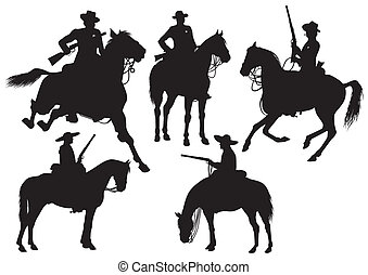 cowboy, sheriff, rider in a sombrer - Rider on horseback in ...