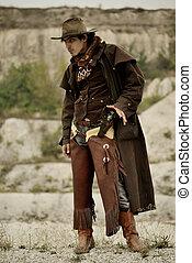 cowboy - handsome man in cowboy clothes
