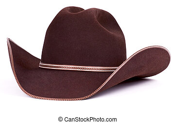 66c8f986e76 Traditional american cowboy straw hat isolated on white background ...
