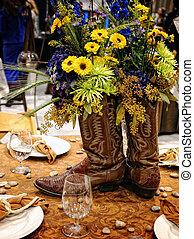 Cowboy style Table decoration