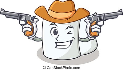 Cowboy tissue character cartoon style