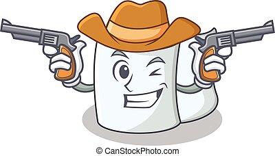 Cowboy tissue character cartoon style