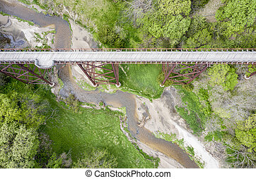 Cowboy Trail in Nebraska aerial view