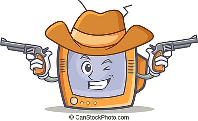 Cowboy TV character cartoon object