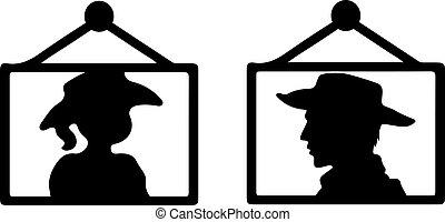 cowboy vector illustration on background