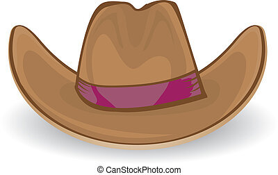cowboy, vettore, illustration., hat.