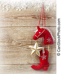 cowboy, weihnachten, spielzeuge