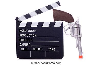 Cowboy western movie clapper board cutout