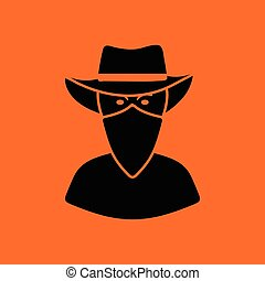 Cowboy with a scarf on face icon