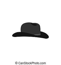 cowboyhut, ikone, in, wohnung, stil