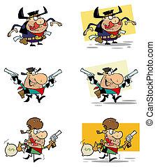 Cowboys Cartoon Characters