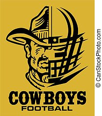 cowboys football team design with helmet and facemask for...