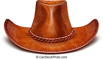 cowboy's leather hat stetson vector illustration isolated on...