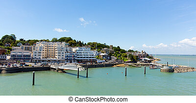 Cowes harbour Isle of Wight port