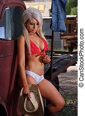 cowgirl , ελκυστικός προς το αντίθετον φύλον