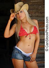 cowgirl, excitado