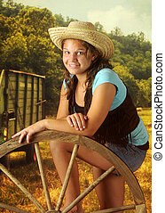 Cowgirl in the Field