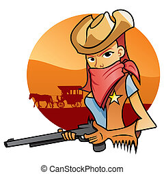 cowgirl, portrait, od