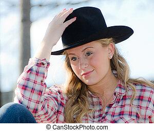 cowgirl, retrato