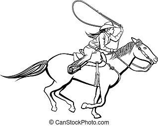 cowgirl, roper