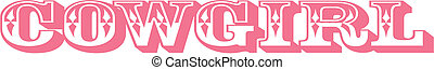 Cowgirl sign clip art graphic