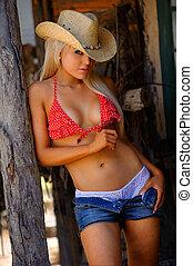 cowgirl, szexi