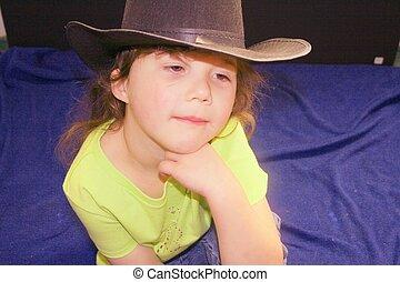 cowgirl, weinig; niet zo(veel)