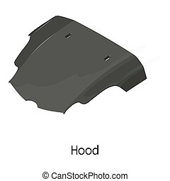 Cowl car icon, isometric 3d style