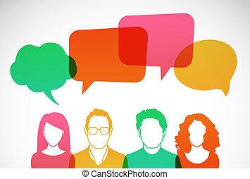 Men and women avatar profile picture set. Vector illustration.