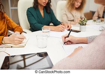 coworking, biuro, kobiety, unrecognizable