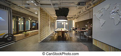 Coworking in loft style - Interior in a loft style. There...