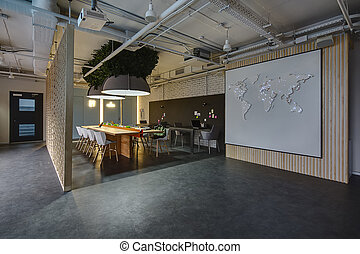 Coworking in loft style - Room in a loft style. There are ...
