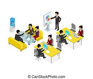 Coworking office people business man.