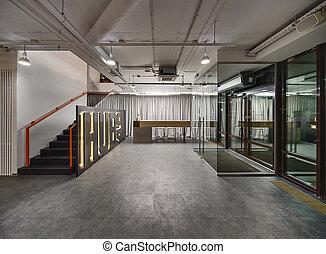 Coworking reception hall