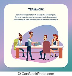 Coworking Team Discussion at Modern Office Area