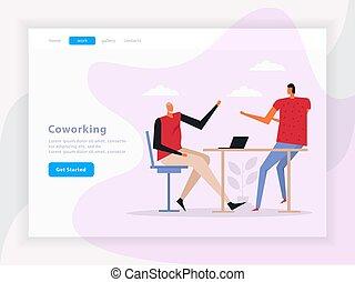 Coworking Team Work Landing Page