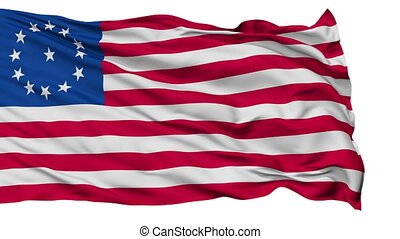 Cowpens USA Isolated Waving Flag