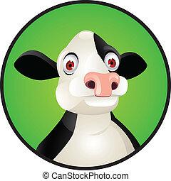 cow's, hoofd
