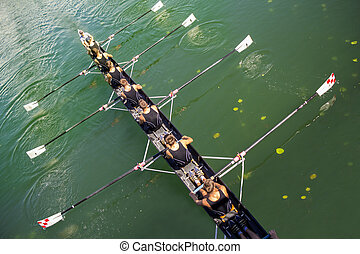 coxed, acht, boot