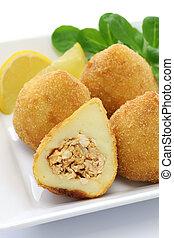 coxinha, brazilian chicken croquette - coxinha de frango, ...