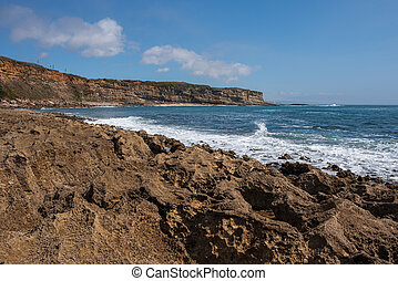 Coxos beach in Ericeira Portugal