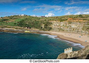 Coxos beach in Ericeira, Portugal.
