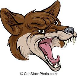 Coyote mascot