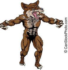 Coyote Wid Dog Mascot