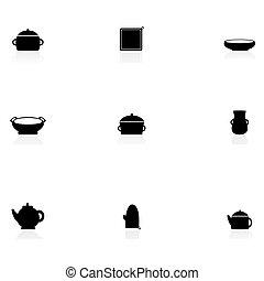 cozinha, ícones