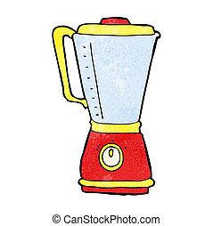 cozinha, caricatura, liquidificador